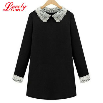Plus Size Women Clothing 5XL T Shirt Dress Women 2016 New Fashionable High Quality Long Sleeve Big Size Black Dresses Female