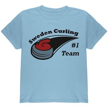 Winter Games Curling Team Sweden Youth T Shirt