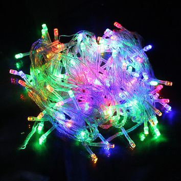 10M LED Fairy String Garland Light AC110V 220V Waterproof Christmas Lights Outdoor For Xmas Wedding Party Decoration z15