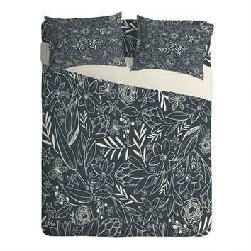 Heather Dutton Botanical Sketchbook Midnight Sheet Set Lightweight