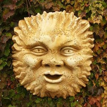 Sun Face Large Garden Wall Plaque 20H - 7344