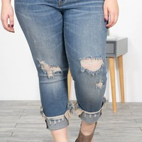 Haven Straight Fit Mid Rise Jeans | Plus