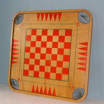 Vintage Carrom Game Board Wall Art