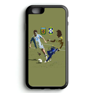 Messi and Neymar Art iPhone 4s iphone 5s iphone 5c iphone 6 Plus Case | iPod Touch 4 iPod Touch 5 Case