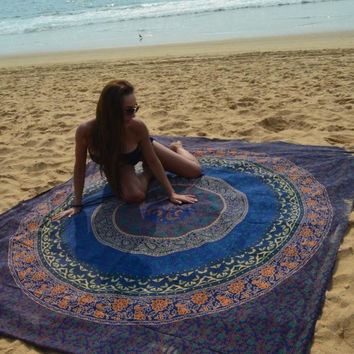 FLORAL MULTICOLOR MANDALA TAPESTRY,, WALL HANGING TAPESTRY,GYPSY TAPESTRY
