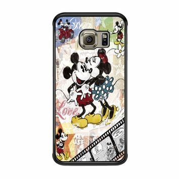 Mickey Mouse Old Vintage 2 Samsung Galaxy S6 EDGE Case