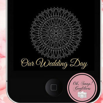 50% Off Sale-Custom Mandala Reception Snapchat Geofilter, Snap Chat Mandala Geofilters, Hindi Wedding Snapchat Geofilters, Mehndi Geofilter
