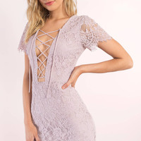 Liisa Lace Up Bodycon Dress