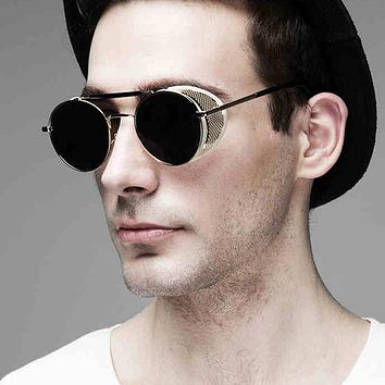 Pop Age New Fashion Gothic Steam Punk Glasses Brand Designer Mirror Driving Women Men Steampunk Sunglasses Oculos de sol