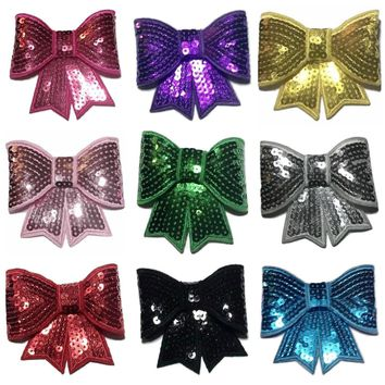 "GRAB BAG JUMBO 3"" sequin bow / 3-20 bows"