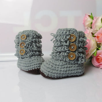 lovely baby shoes handmade Crochet boy Baby Booties soft baby toddle  for summer winter  3-12months