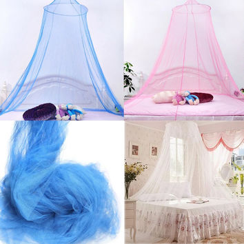 Round Lace Decoration Bed Canopy Netting Curtain Dome Fly Mosquito Midges Insect Stopping Net