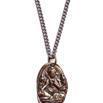 Ganesha Bronze Necklace for Men.
