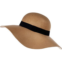 River Island Womens Beige wide brim floppy hat