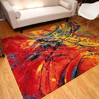 7005 Multi-Color Colorful Contemporary Area Rugs
