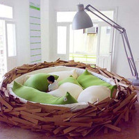 Bird Nest Bed » Curbly | DIY Design Community « Keywords: Inspiration, bed, nest, bird