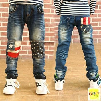 PEAPUG3 Toddler Children new fashion clothes kids baby Patchwork pants Boys Trousers jeans 2-16 Year = 1930285316