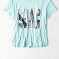 AEO Women's Soft & Sexy Baby T-shirt (Mint)