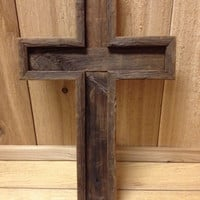 The Old Rugged Cross - Cross Decor Made from Barn Wood