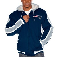 New England Patriots Navy Blue Full Zip Fleece Hoodie