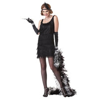 California Costumes Womens Fashion Flapper Halloween Party Dress Costume