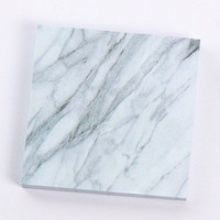 Marble Print Sticky Notes Pad in White and Gray