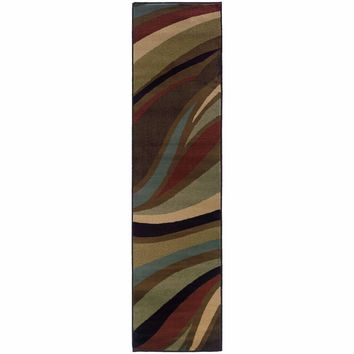 Hudson Brown  Abstract Waves Contemporary Rug