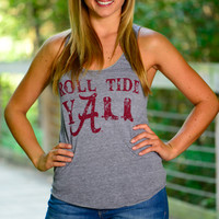 Judith March Roll Tide Tank,Gray