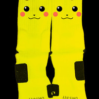 Pokemon Pikachu Custom Nike Elite Socks