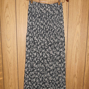 Vintage EXPRESS  long skirt floral  grunge sheer  90s  boho bohemian hippie hippy gypsy    S small