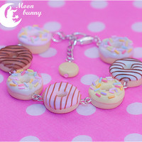 Assorted Sweet Donuts Bracelet by Moon Bunny by CuteMoonbunny