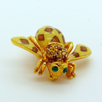 "Joan Rivers ""Joan of the Jungle"" Leopard Bee Pin from the Joan Rivers Classics Collection"