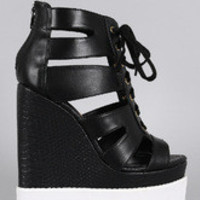 Women's Privileged Caged Snake Wedge
