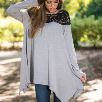 Glimmer Of Hope Top, Gray