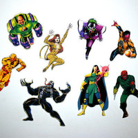 Super villains magnet set