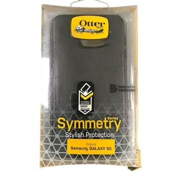 OtterBox Symmetry Series Case Cover for Samsung Galaxy S5 Black NEW OEM