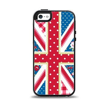 The Fun Styled Vector London England Flag Apple iPhone 5-5s Otterbox Symmetry Case Skin Set