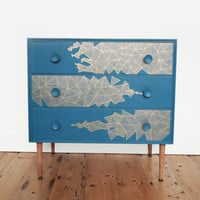 Upcycled Retro Geometric Chest Of Drawers