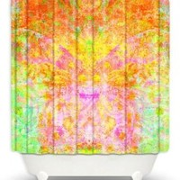 DiaNoche Designs Shower Curtains by China Carnella Unique, Cool, Fun, Funky, Stylish, Decorative Home Decor and Bathroom Ideas - Firefly