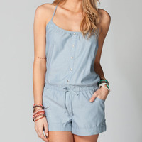 Full Tilt Chambray Romper Light Blue  In Sizes