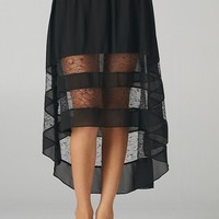 Alternate Laced Hi-Lo Skirt (Black)