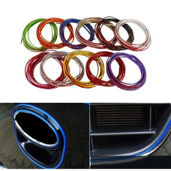 5M Car Styling Brand Stickers and Decals Interior Decorative 3D Thread Stickers Decoration Strip on Car-Styling Auto Accessories