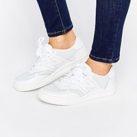 New Balance Court White Perforated Leather Trainers