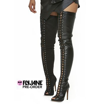 ZigiNY PIARRY THIGH HIGH BOOT - LEATHER (PRE-ORDER)