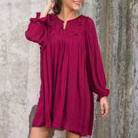 Love Of Bordeaux Dress, Burgundy