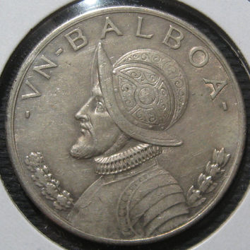 1931Viintage Coin Republic of Panama Crown Sized Silver 900 Ley Un Balboa Collectible Coin Only 200,000 Minted