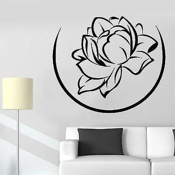 Wall Sticker Lotus Flower Floral Buddha Meditation Vinyl Decal Unique Gift (z2946)