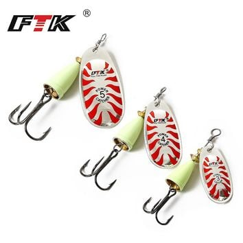 FTK Mepps Treble Hooks Spinner Bait Spoon Sharp Fishing Accessories Ringed Barbed Hook Abrasion Resistance Artificial Bait Lure