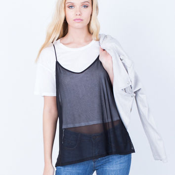 Layer of Mesh Tee
