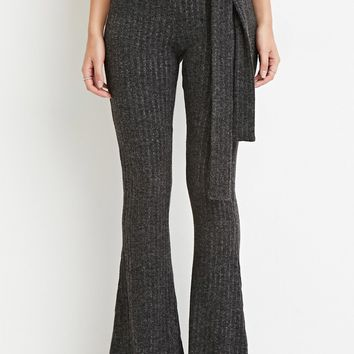 Contemporary Belted Flare Pants